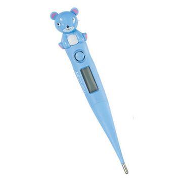Снимка на Дигитален електронен термометър с гъвкав и мек връх – Thermosoft синьо мече