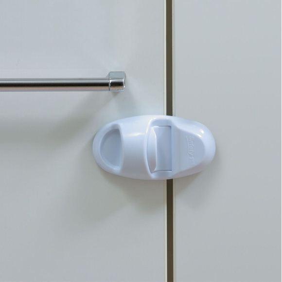 Снимка на Устройство за заключване на шкаф без дръжки (1 бр./оп.) – бял цвят - ST-39036760