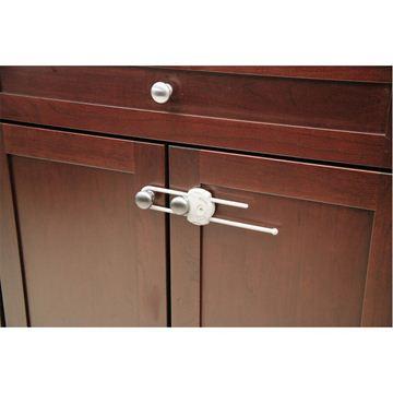 Снимка на Устройство за заключване на шкаф с плъзгач (1 бр./оп.) – бял цвят - ST-39096760