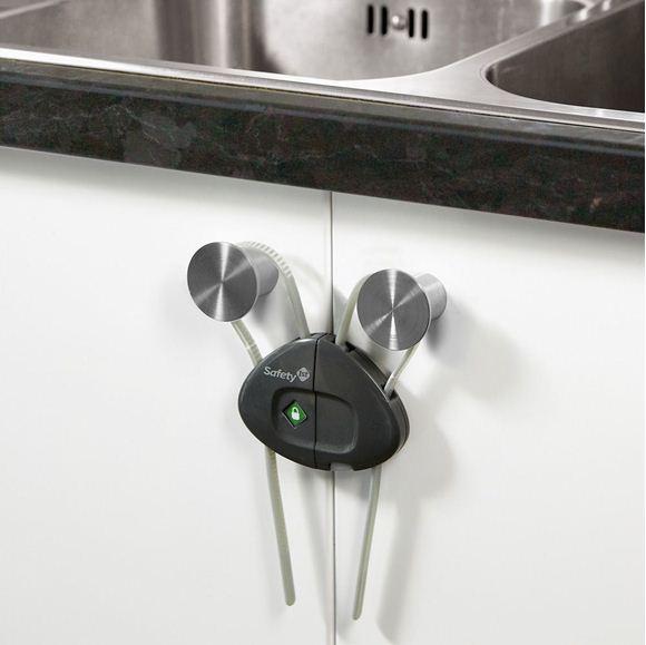 Снимка на Устройство за заключване на шкаф с шнур (1 бр./оп.) – сив цвят - ST-33110038